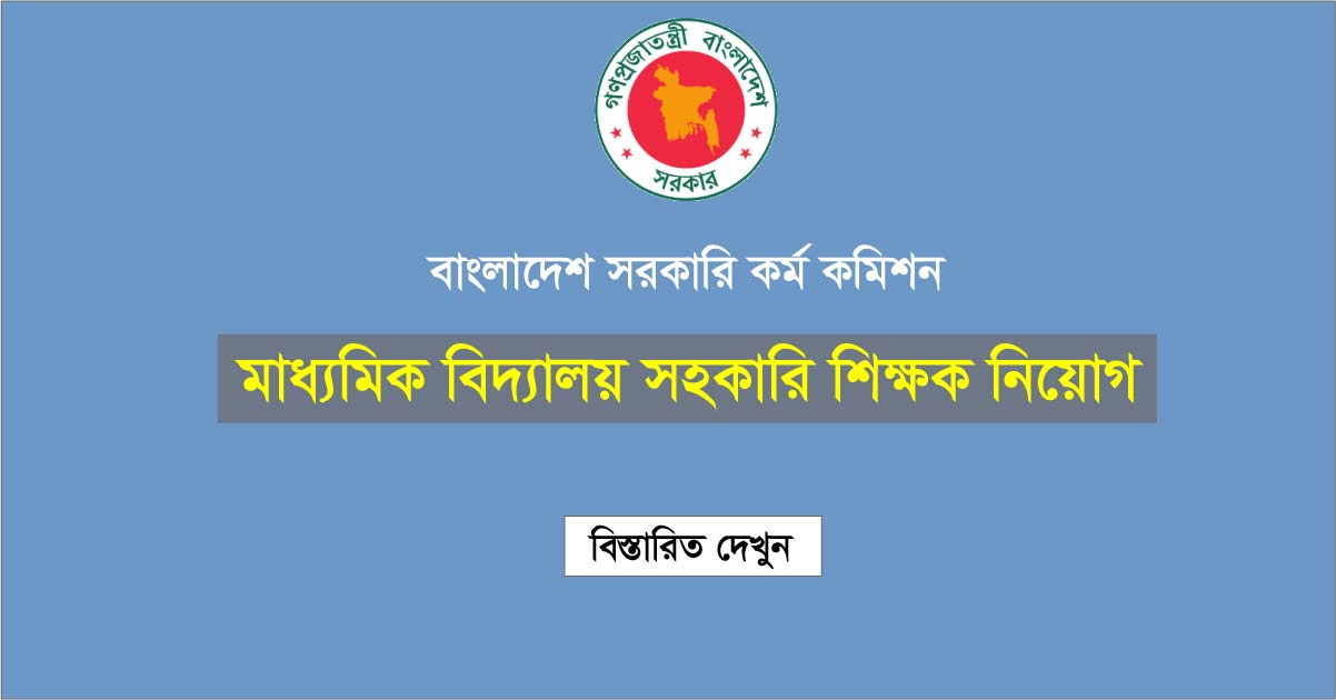 High School Teacher job Circular
